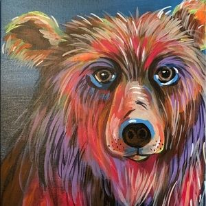 Original painting signed by artist bear